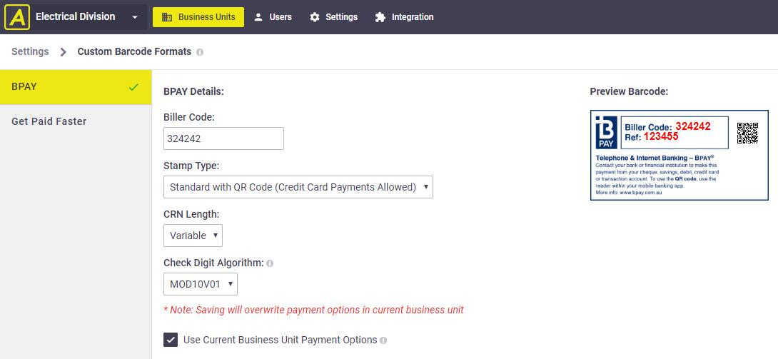 Custom Barcode Formats - Administrators Guide - AroFlo