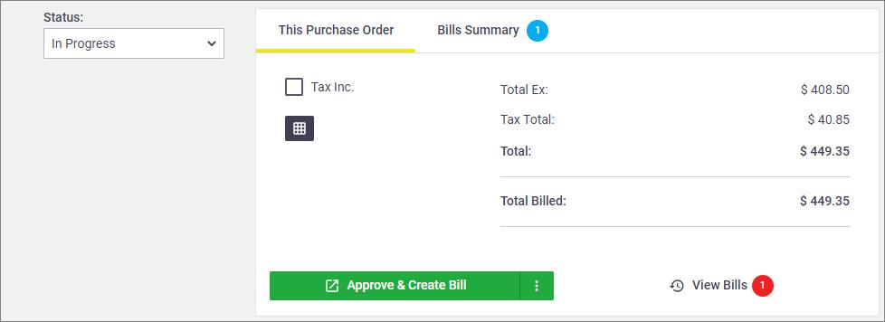 Changes to bills