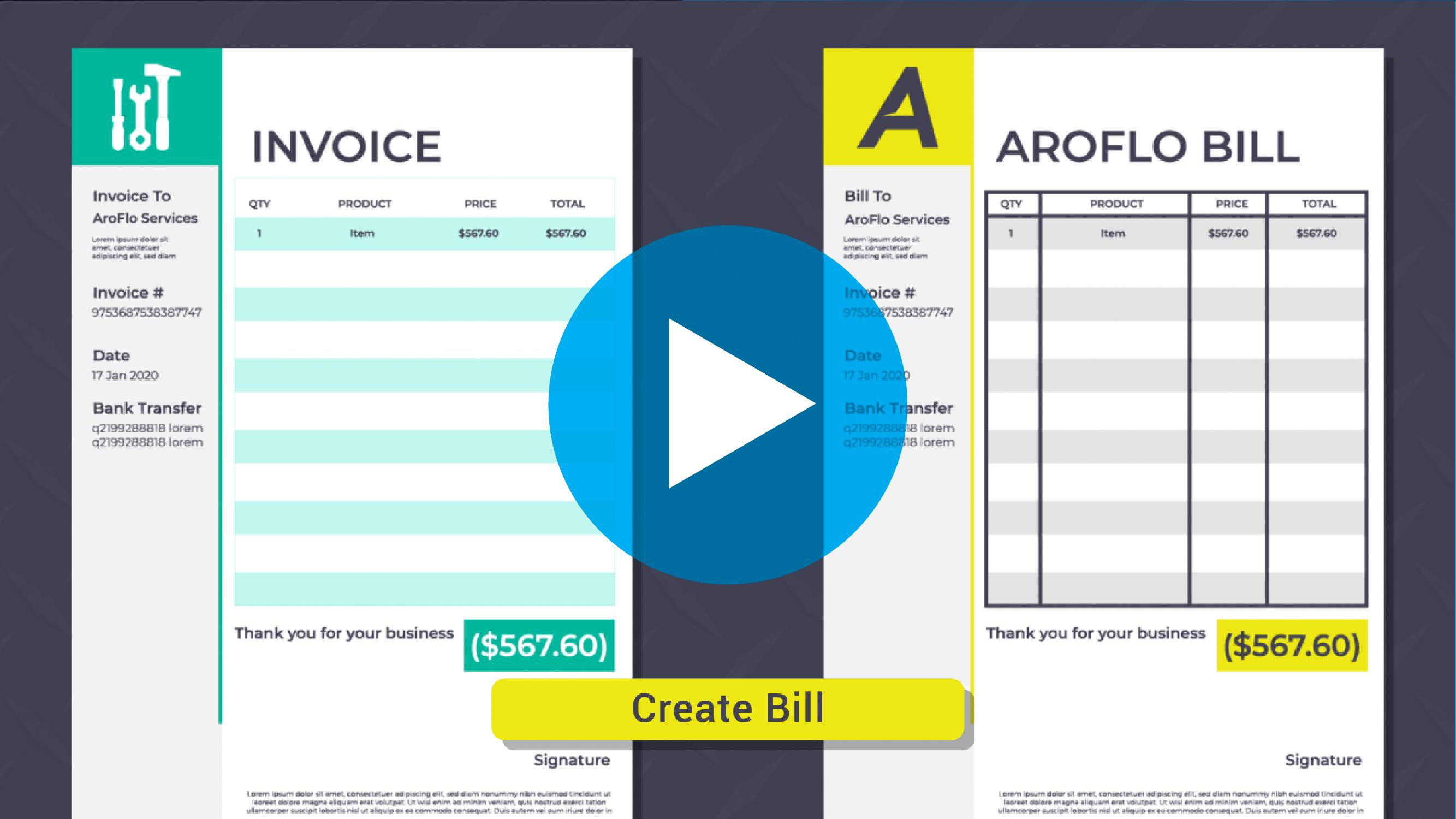 Purchase Order vs Bill