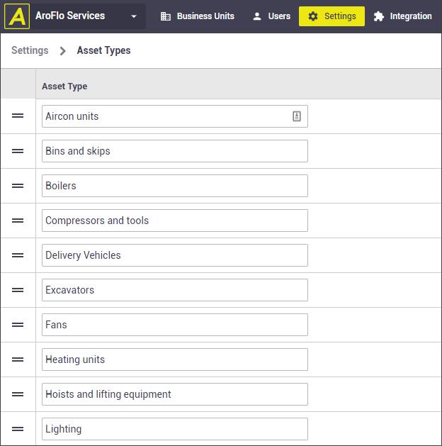 Create multiple asset types
