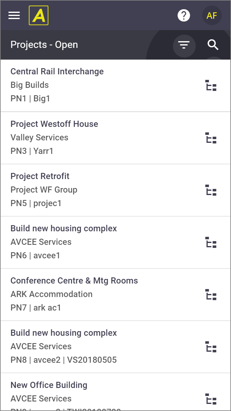 Updated Project List