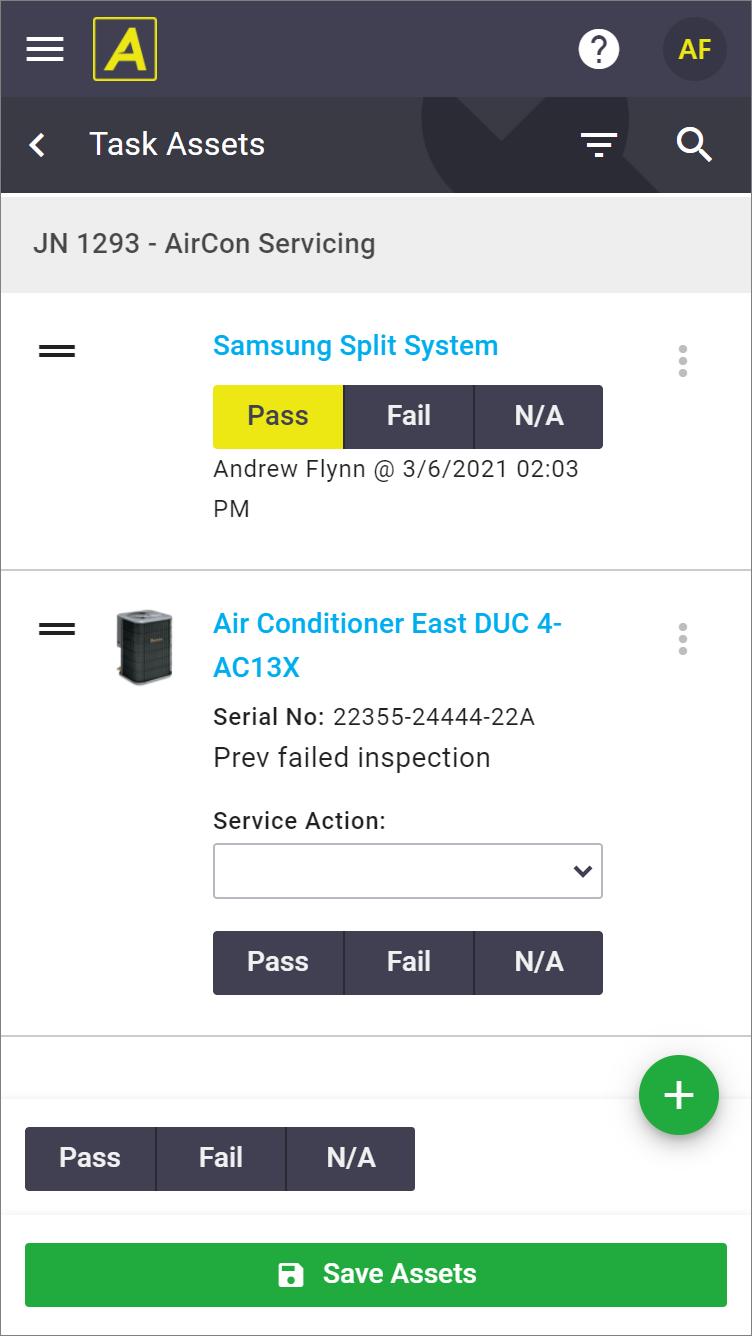 Task Asset List update