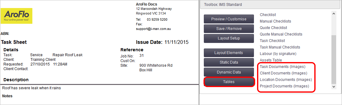 Add Elements to a Document Template - Office Documentation