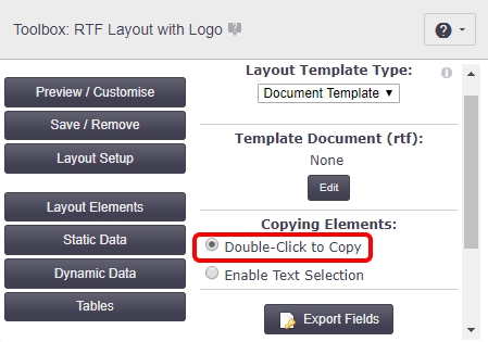 Create an RTF Document Template - Office Documentation - AroFlo