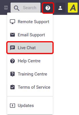 Live Chat Support - Office Documentation - AroFlo Documentation